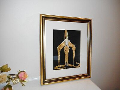 "Art Deco Era Erte  French Designer ""starfish"" Art Print   Wooden Frame"