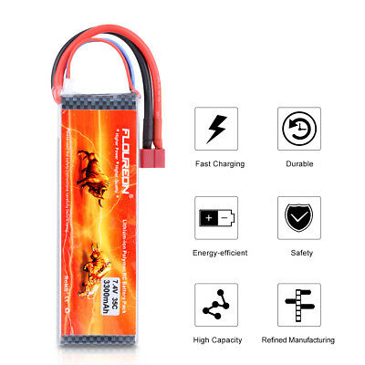 2S1P 7.4V 3300mAh 35C Deans LiPo Battery for RC Car Truck Vehicle Airplane Drone