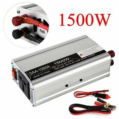 1500W Converter Modified Sine Wave Power Inverter 12V DC to 240V AC USB UK Stock