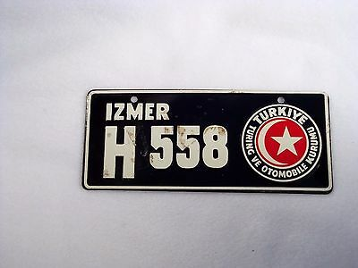 TURKEY Wheaties Cereal License Plate #H 558