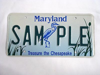 MARYLAND Vintage License Plate #SAMPLE