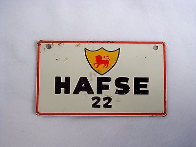 ITALY MILITARY Wheaties Cereal License Plate #HAFSE 22