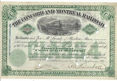 The Concord And Montreal Railroad......1919 Common Stock Certificate