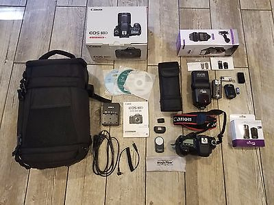 Canon EOS 80D 24.2MP Digital DSLR Camera - Body Only with Accessories