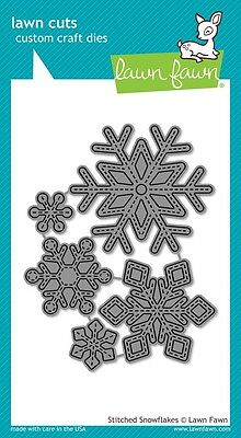 Lawn Fawn Die - Stitches Snowflakes