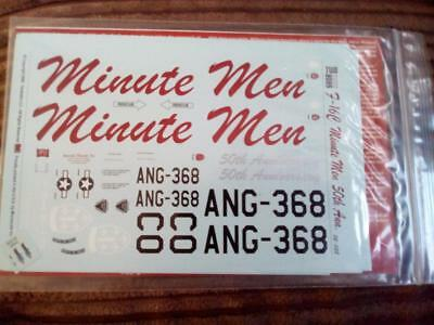 F-16C Minute Men 50th Anniversary 1:32 Scale Decal Set 32-038 Two Bobs