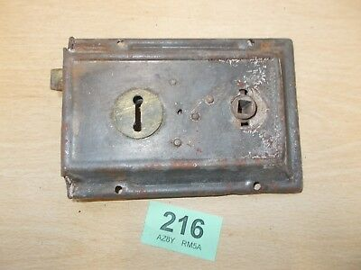 Antique Front Door Rim Lock Door Latch Locks Duel Handled 216