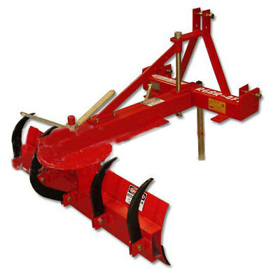 6Ft Grader Blade With Ripper 1.8M 3 Point Linkage - 55Hp Tractor Tpo