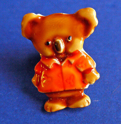 BUY1&GET1@50%~JJ PIN KOALA BEAR Enameled Vintage MINIATURE Brooch TIE TAC