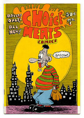 Choice Meats Comics #1 and #2 - 1st Printings / 1971 Undergrounds / VG- to VG/FN