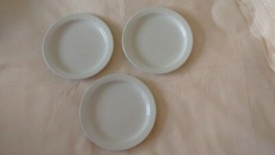 3  X Wade - White Side Plates
