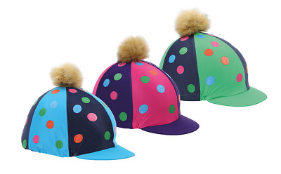 Shires Pom Pom Hat Cover With Spots