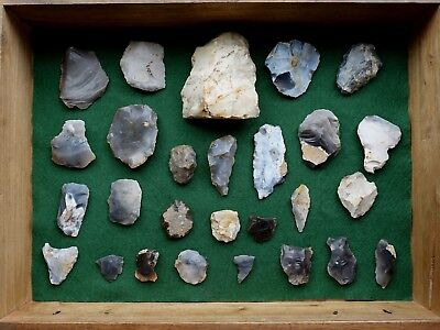 Collection of 27 Neolithic & Mesolithic flint tools, collected Norfolk 1890-1920