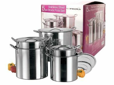 LARGE STOCK POTS sauce pans cooking JAM BEER MAKING kitchen restaurant stainless