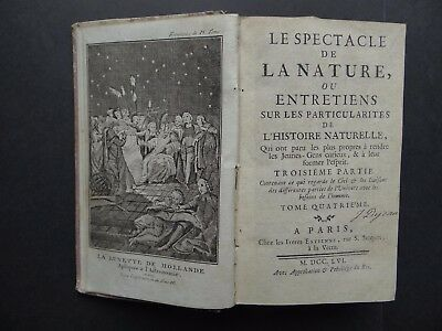 1756 PLUCHE Atlas Le Spectacle de la Nature Vol 4  + maps plates