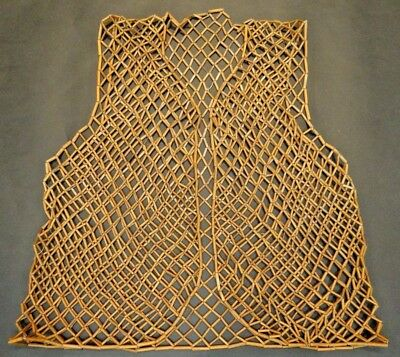 19th C. Qing [Ching] Dynasty Chinese Bamboo Vest