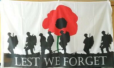lest we forget british army poppy flag 5 x 3 remember them rememberance day