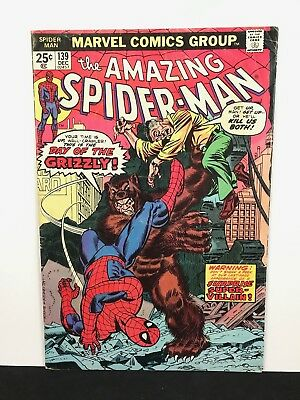 Bronze Age  AMAZING SPIDER-MAN #139 Marvel Comics Lot 1st Grizzly