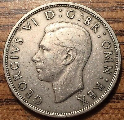 1948 Great Britain 1/2 Crown King George VI Coin