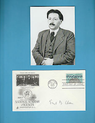 Ernst Boris Chain (Nobel Prize Medicine 1945) Signed Natioal Academy Sciences