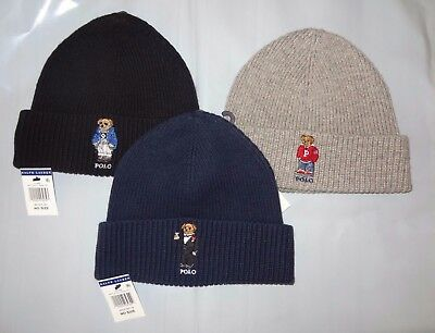 a216f6708ca NWT Brand New With Tags Polo Ralph Lauren Cuffed Bear Ski Beanie Skull Cap  Hat