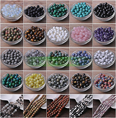 Wholesale Natural Stone Gemstone Round Loose Beads 4mm 6mm 8mm 10mm 12mm Making