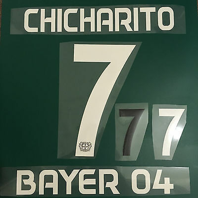 Hernandez Football Shirt Name & Number Set Print Transfer Leverkusen Chicharito