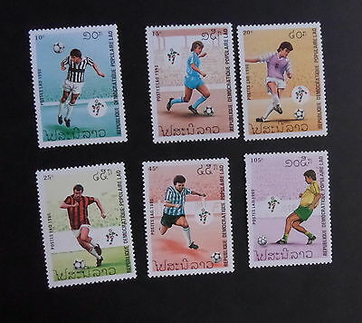 Laos 1990 World Cup Football Championship SG1168/73 MNH UM unmounted mint