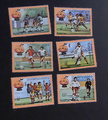 Laos 1982 World Cup Football Championship SG545/50 MNH UM unmounted mint
