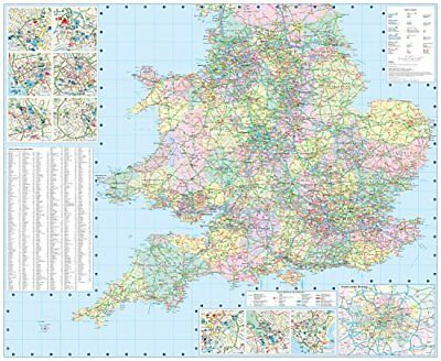 2018 Collins Map of Britain by Collins Maps New Sheet map  folded Book