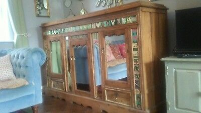 Rare Antique Victorian Colonial Anglo Indian Sideboard Dresser Cabinet