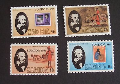Zambia 1979 Death Cent Rowland Hill SG296/9 MNH UM unmounted mint