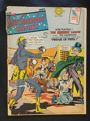 Star Spangled Comics #12 ! DC 1942 ! OFF-WHITE PAGES ! JACK KIRBY ! hayfamzone