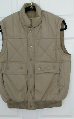 Vtg 80's Chess King Puffy Winter Ski Vest sz Small Snap Front With Zipper