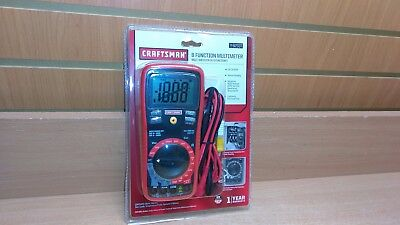 Craftsman 8 Function Multimeter Electric Tester 82337 - NEW