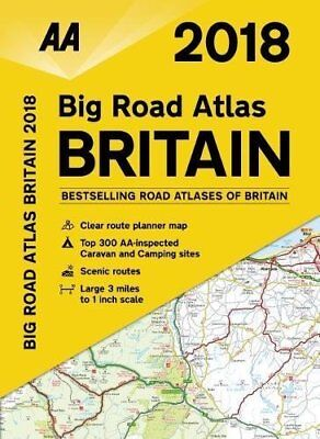 AA Big Road Atlas Britain by AA Publishing New Spiral bound Book