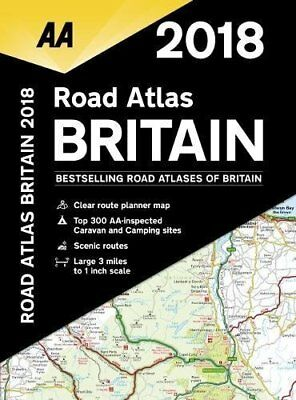 AA Road Atlas Britain by AA Publishing New Spiral bound Book