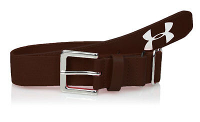Under Armour Youth Boys Baseball Belt Elastic Adjustable Up to Size 34 Brown