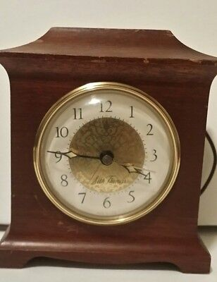Vintage Seth Thomas *WORKS!* SS12-0 Mantle Electric Wood Alarm Clock Antique