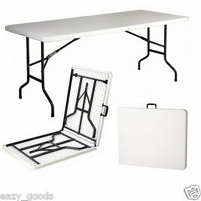 6Ft Foot Folding Table Catering Camping Trestle Market Party - Next Day Delivery