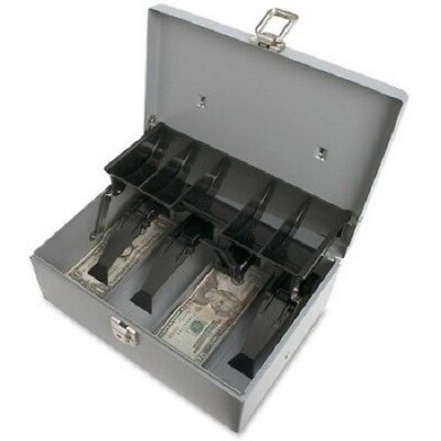 Genuine Sparco 5 Compartment Coin Tray Cash Box Steel Money Safe New