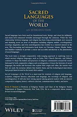 Sacred Languages of the World by Brian P. Bennett New Paperback Book