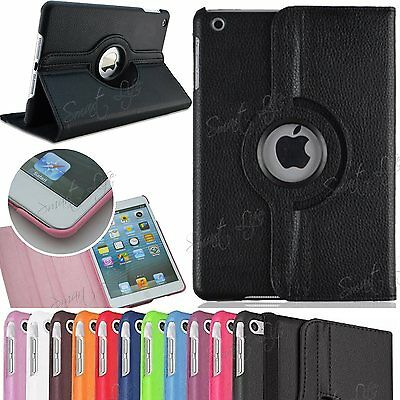 Leather 360° Rotating Smart Stand Folio Case Cover For Apple iPad 9.7(2017/2018)