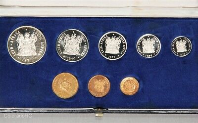 1977 South Africa 8-Coin Proof Set in Original Mint Box