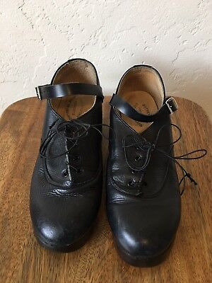RUTHERFORD IRISH DANCE SHOES flex sole LEATHER jig dance sz 4 or 6 6.5 NO RESERV
