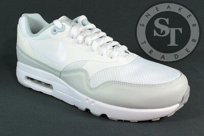 9492766e059189 Nike Air Max 1 Ultra 2.0 Essential 875679-101 White Pure Platinum Ds Size
