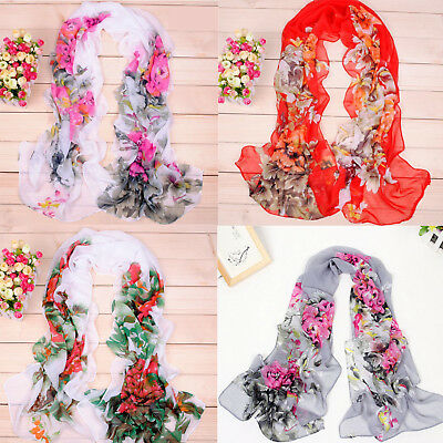 Hot sell Fashion Stylish Women Long Soft Silk Chiffon Scarf Wrap Shawl Scarves