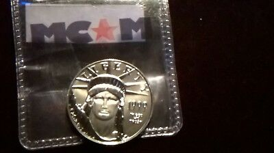 1/2 Oz 50$ Liberty Eagle Pure Platinum Coin No Reserve!