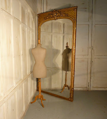 Very Large French Gold Mirror, Gilt Console Mirror