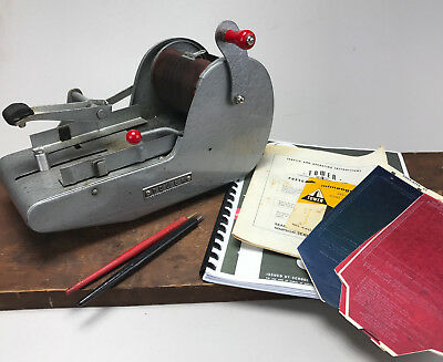 Vintage Sears Roebuck Tower Postcard Mimeograph Machine Maker Tool With Extras!